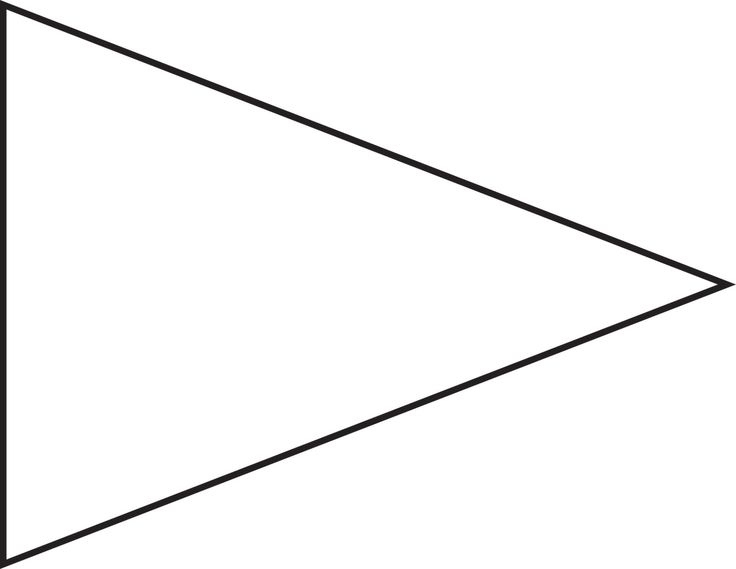 Baseball Pennant Template. See Free Printable Baseball Pertaining To Free Triangle Banner Template