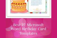 Best 22 Microsoft Word Birthday Card Templates | Birthday throughout Microsoft Word Birthday Card Template