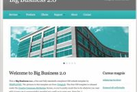 Big Business 20 Free Website Templates In Css, Html, Js For Basic Business Website Template