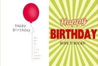 Birthday Card Template Word Document Blank Microsoft Text regarding Microsoft Word Birthday Card Template