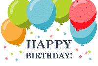 Birthday – Office with Microsoft Word Birthday Card Template