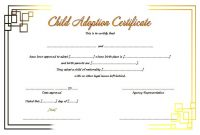 Blank Adoption Certificate – Trinity in Adoption Certificate Template