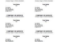 Blank Business Card Template – Free Printable pertaining to Business Card Template Word 2010