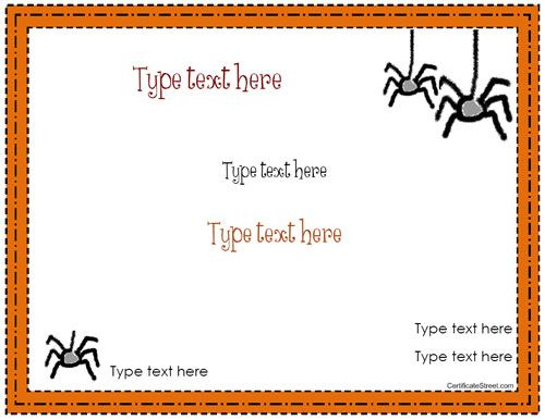 Blank Certificate – Halloween Certificate Template Inside Halloween Certificate Template