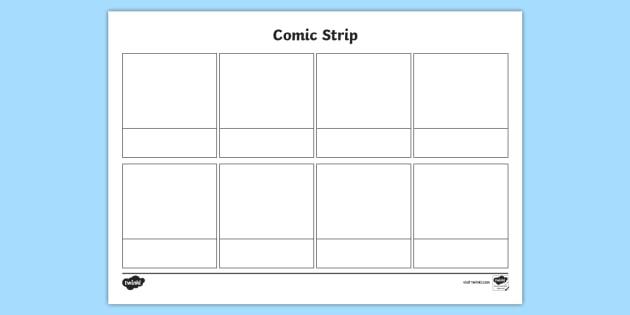 Blank Comic Strip Template (Teacher Made) intended for Printable Blank Comic Strip Template For Kids