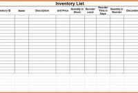 Blank Small Business Inventory Control Checklist Spreadsheet for Small Business Inventory Spreadsheet Template