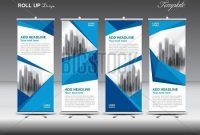 Blue Business Roll Vector & Photo (Free Trial) | Bigstock for Banner Stand Design Templates