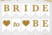 Bride To Be Banner Bride To Be Bridal Shower Banner Bride inside Bridal Shower Banner Template