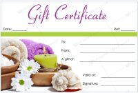 Bring In Clients With Spa Gift Certificate Templates with regard to Spa Day Gift Certificate Template