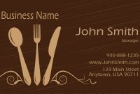 Brown Catering Business Card – Design #2101041 | Free throughout Restaurant Business Cards Templates Free