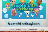 Bubble Guppies Birthday Banner – Happy Birthday Banner, Birthday Banner,  Custom Banners, Party Banners, Personalized Banners Signs regarding Bubble Guppies Birthday Banner Template