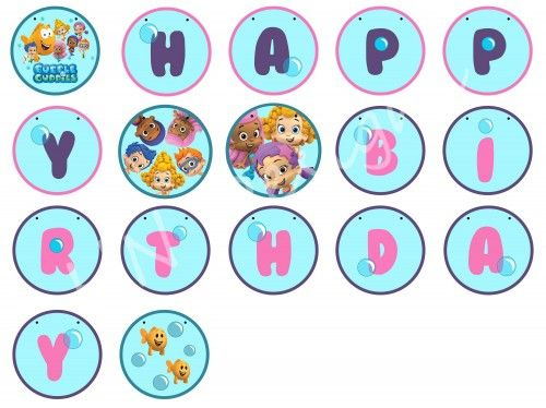 Bubble Guppies Birthday Banner Printable | Bubble Guppies within Bubble Guppies Birthday Banner Template