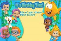 Bubble Guppies Invitation Template | Bubble Guppies Birthday in Bubble Guppies Birthday Banner Template