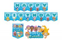 Bubble Guppies Personalized Printable Birthday Flag Banner inside Bubble Guppies Birthday Banner Template
