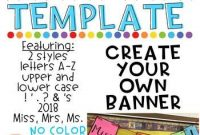 Bunting Banner Template | Classroom Banner, Classroom throughout Classroom Banner Template