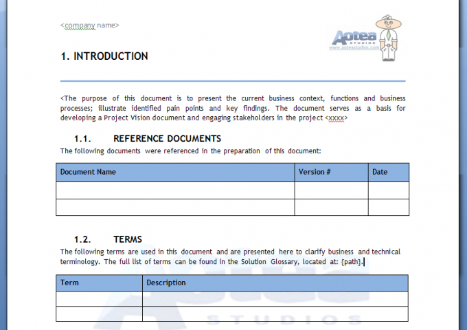 Business Analysis Template Kit with regard to Business Analyst Documents Templates