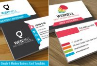 Business Card Design | Webneel intended for Web Design Business Cards Templates