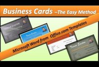 Business Card – Make Business Cards – Microsoft Word 2010 with Business Card Template Word 2010