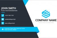 Business Card Template Free Vector – Personalized Design inside Template For Calling Card