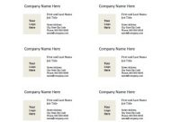 Business Card Templates For Microsoft Word – Free Printable intended for Word Template For Business Cards Free