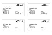 Business Card Templates For Word with regard to Business Card Template For Word 2007
