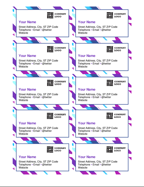 Business Cards – Office In Word 2013 Business Card Template