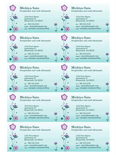 Business Cards - Office intended for Word Template For Business Cards Free