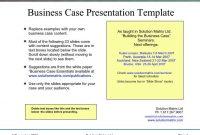Business Case Presentation | Business Case Template, Case within Template For Business Case Presentation