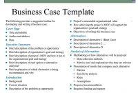 Business Case Template | Business Case Template, Business pertaining to Template For Business Case Presentation