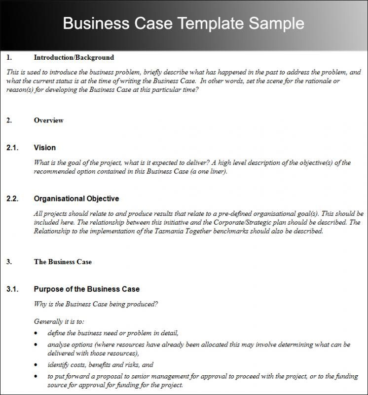 Business Case Template | Business Case Template, Business with regard to Writing Business Cases Template