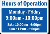 Business Hours Signs | Business Hours Sign, Sign Templates with regard to Business Hours Template Word