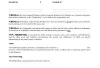 Business Partnership Agreement Template – Approveme – Free within Template For Business Partnership Agreement