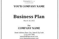 Business Plan Template | Business Proposal Template inside Business Plan Cover Page Template
