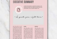 Business Plan Template – Pink & Stylish – In Word For Free with Business Plan Cover Page Template