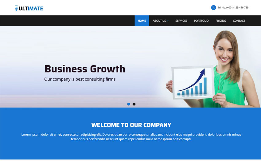 Business Responsive Html Web Template Free Download throughout Template For Business Website Free Download