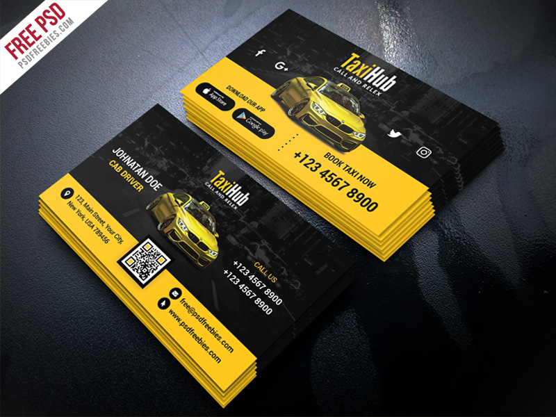 Cab Taxi Services Business Card Template Psd – Uxfree Pertaining To Transport Business Cards Templates Free