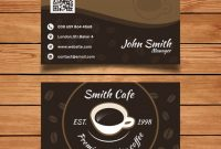Cafe Business Card Template | Free Vector throughout Coffee Business Card Template Free