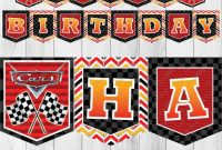 Cars Printable Banner, Disney Cars Party, Printable Birthday Banner, Cars  Happy Birthday Banner, Car Birthday Printable, Instant Download regarding Cars Birthday Banner Template