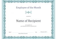 Certificate For Employee Of The Month (Blue Chain Design) for Employee Of The Month Certificate Template With Picture