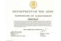 Certificate Of Achievement Army Template Di 2020 intended for Certificate Of Achievement Army Template