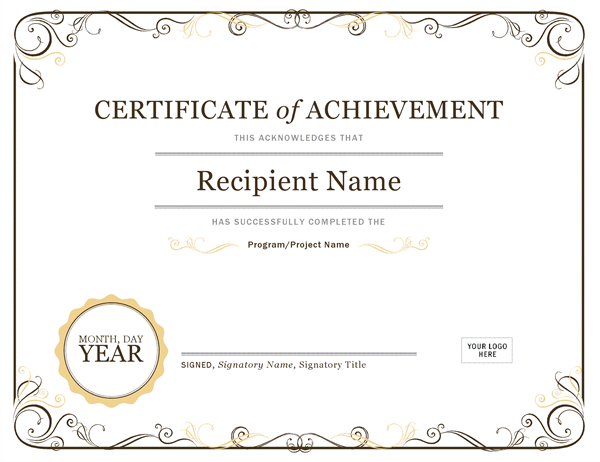 Certificate Of Achievement with regard to Mock Certificate Template