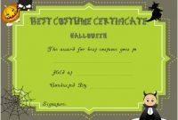 Certificate Of Appreciation For Halloween Costume regarding Halloween Costume Certificate Template