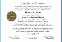 Certificate Of License Template (1 with Certificate Of Vaccination Template
