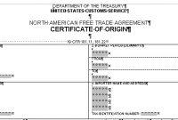 Certificate Of Origin Form regarding Nafta Certificate Template