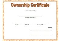 Certificate Of Ownership Template (3 inside Ownership Certificate Template