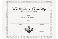 Certificate Of Ownership Template Download Printable Pdf intended for Ownership Certificate Template