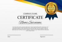 Certificate Template Background. Award Diploma Design Blank with Award Certificate Design Template