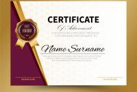 Certificate Template Design A4 Size | Premium Vector with Certificate Template Size