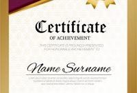 Certificate Template Design A4 Size | Premium Vector with regard to Certificate Template Size