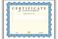 Certificate Template For Pages (7 throughout Certificate Template For Pages